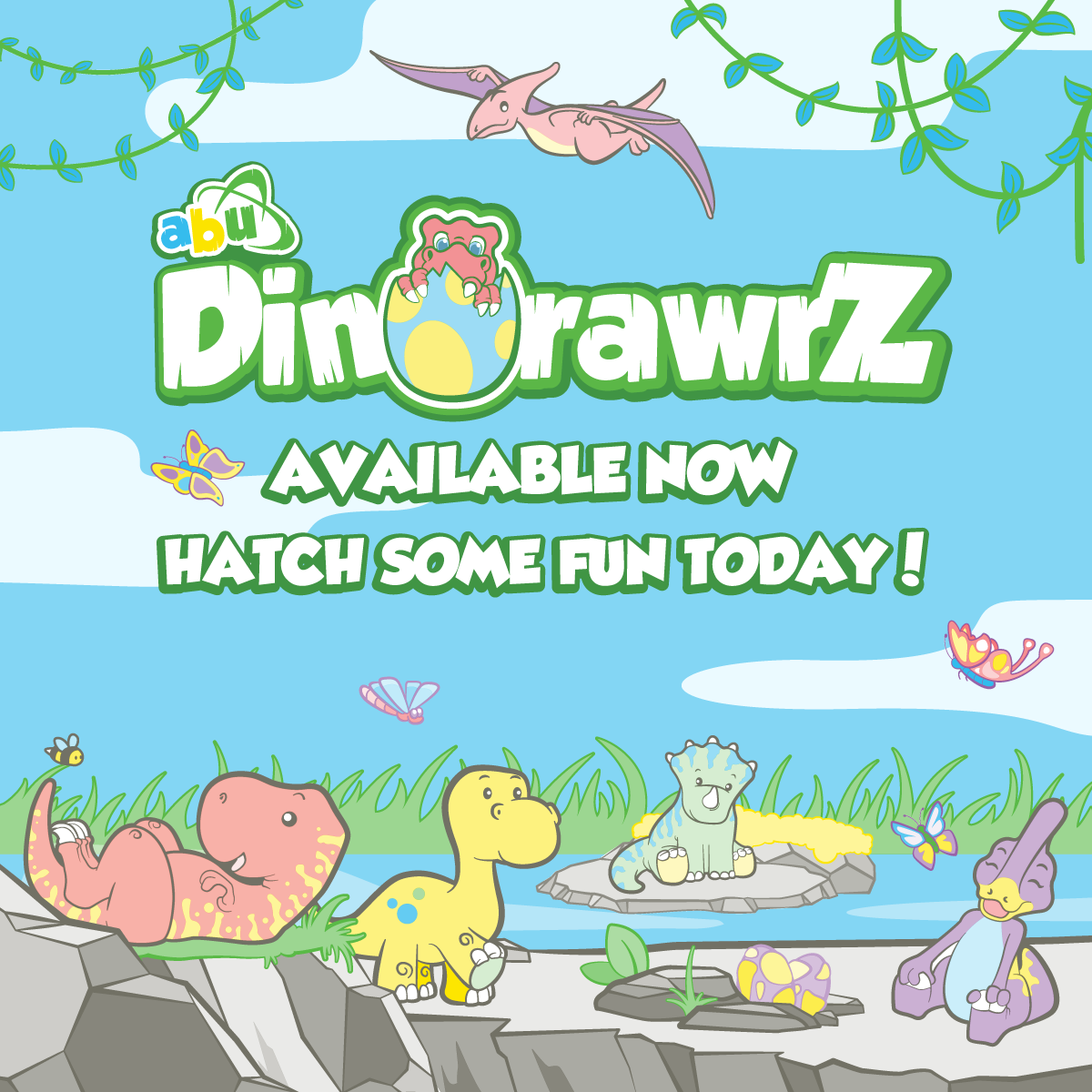 DinoRawrZ Release Banner Mobile