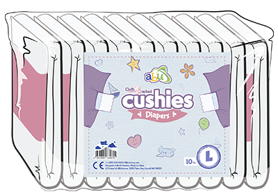 Cloth backed Cushies Diapers